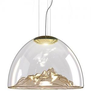 Buy cheap Mountain Blown Hanging Bar Lights , Warm White GU10 Glass Decorative Pendant from wholesalers