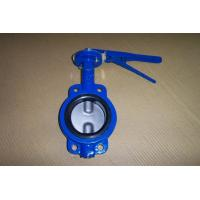 Quality CL150/PN16 CAST IRON GG25 CONCENTRIC RUBBER LINED WAFER/LUGGED BUTTERFLY VALVE for sale