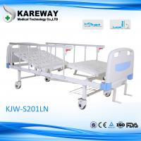 China Aluminum Side Rails Manual Hospital Bed 2 Cranks With CE Approved , 1.2mm Thickness wholesale
