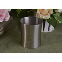 Buy cheap 23 Oz Silver round metal candle holder bulk with Lid , customized shapes product