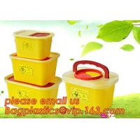 Buy cheap Square sharps container, medical disposal bins, needle container, Disposable Hospital Biohazard Sharp Collector Waste Bi product