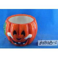 Buy cheap Pumpkin Small Ceramic Flower Pots Ghost Design 15 X 15 X 15 Cm For Halloween product