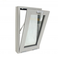 Buy cheap Tempered Safety Glass Aluminium Swing Window White Powder Coated Color product