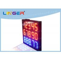 Buy cheap Professional Digital Price Sign Gas Station , Gas Led Display Board Price product