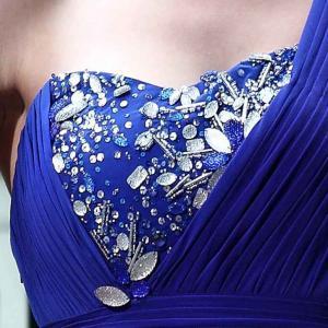 Buy cheap La robe de soirée de Beadings de plancher d'épaule élégante de la longueur une/demoiselles d'honneur mûres habillent -30581 product