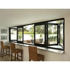 Buy cheap Residential Aluminum Bifold Windows With Black Or Customized Color Heat Insulating bi-fold window sliding folding window product