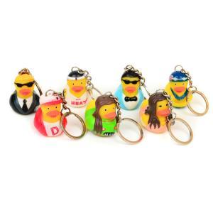 Vinyl Mini Rubber Duck Keyring Environmental Protection For Children