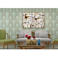 Buy cheap Waterproof PVC Green Damask Victorian Pattern Wallpaper With Non Woven Materials product