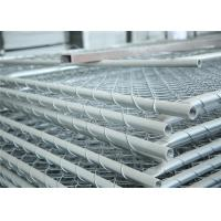 Buy cheap Construction Chain Link Fence Panels ASTM 396 standard Hot dipped Galvanized and Pregalvanized from wholesalers