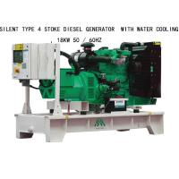 China 18KW Silent Type 4 Stoke Perkins Diesel Generators  With Water Cooling on sale