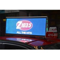 Buy cheap 1R1G1B Taxi Top Mobile LED Screen Double Side Moving LED Video Billboard High Brightness product