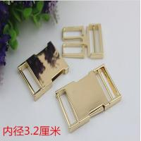 Buy cheap High quality zinc alloy 32 mm light gold fast release buckle for bag parts product