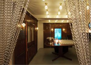 Buy cheap Silver Color Interior Shiny Metal Chain Fly Screen Curtains For Decoration product