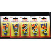 Buy cheap Handmade Painted Number Candle with Blue Set Square and Yellow Edge with colorful Paintings product