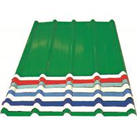 Buy cheap Red/ Blue/ White Corrugated Metal Sheets , Recyclable Steel Sheets - Roof/Wall product