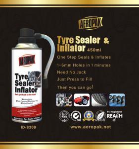 Buy cheap White Aeropak Emergency Tyre Repair Sealant Inflator 450ml 650ml product