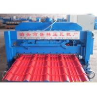 China Automatic Corrugated Roof  Glazed Tiles Roll Forming Machine With 16 Rollers on sale