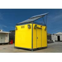 Prefab Flat Pack Container Homes With Solar Panel , Energy Saving