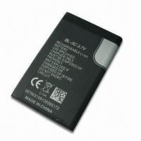Quality Li-ion Mobile Phone Battery for Nokia BL-5C, with Double IC PCB and 3.7BV/1050mAh Capcity for sale