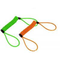 Buy cheap Colorful anti-drop spring steel spiral lanyard w/ big loop ends to protect valuable tools product