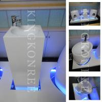 Buy cheap Modern artificial marble pedestal washing basin from wholesalers