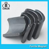 China Y30 Grade Permanent Ferrite Arc Magnet For DC Motor Multipurpose Use for sale