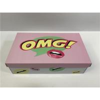 Buy cheap Durable Cardboard Shoe Boxes With Cute Logo Flexible Capacity For Girls Shoes product