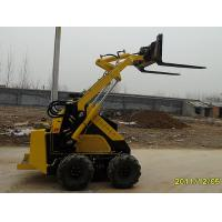 Quality 4 Wheel Mini Skid Steer Loader / Fork Shove Loader Diesel Engine for sale