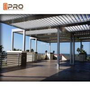 Buy cheap Outdoor Aluminium Louvered Bio - Climatic Pergola Motorised Waterproof Sliding And Folding product