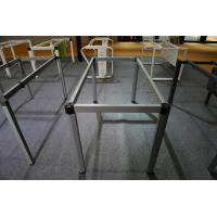 Buy cheap Offer hexagonal shape office desk steel frame leg dark gray 1/2/4/6 staff use product