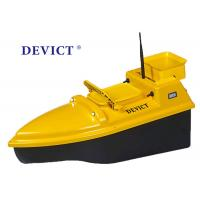 Buy cheap Yellow Rc Boat With Fish Finder , DEVC-103 Remote Control Bait Boat 4 class product for fishing product