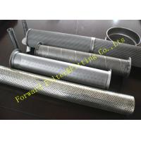 China Galvanized Stainless Steel Perforated Pipe Large Diameter 1/4 -12 Center Tube on sale