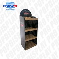 Buy cheap Disassembled Packing Wood 3 Shelving Corrugated Floor Displays product