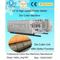 China Printing Slotting Carton Packing Die Cutting Machine With Ceramic Anilox Roller And Stacker on sale