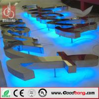 Buy cheap Metal backlit custom thin vacuum hotsale light high quality strong stainless alphabet lett product