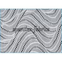 Quality Smooth And Strong Strength Wave Like Elastic Lace Fabric Nylon Lycra Material for sale