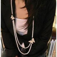 Buy cheap Fashion Necklace Pearl butterfly necklace product