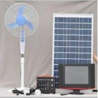 China Portable Solar System 60W (with 2 LED lamps,12VDC fan,12V LCD TV) on sale