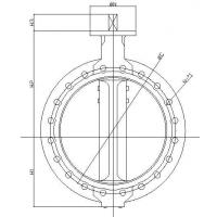 Buy cheap Flanged butterfly valve product