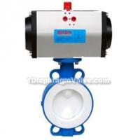 Buy cheap Pneumatic Wafer Fluorine Lined Butterfly Valve product