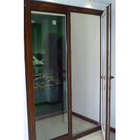 China Jixin German style aluminum clad wood window, 90 series inward open doors on sale