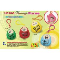 plastic product coin purse with key chain / coin bank