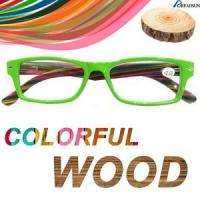 Buy cheap Colorful Wood reading glasses product