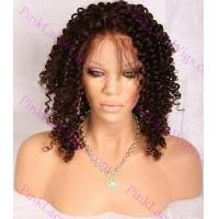 Buy cheap Evelyn #4 Darkest Brown Tight Spiral Curl Full Lace Wig in Lengths 16-18 inches from wholesalers