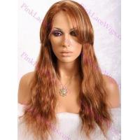 Buy cheap Savannah #30 with 27 Highlights Natural Straight Full Lace Wig from wholesalers