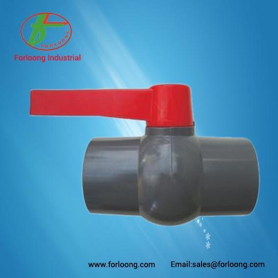 Quality PVC Long Handle Type Ball Valve 75mm 90mm 110mm for sale