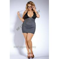 Buy cheap teacher costume with striped spandex stretchy halter dress product