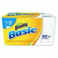 """Buy cheap Bounty 92972 Basic Select-A-Size Paper Towels, 5 9/10"""" x 11"""", 1-Ply, White Pack of 12 product"""
