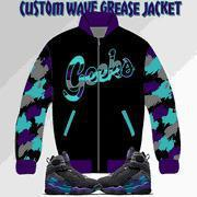 Wave Grease Jacket to match Jordan 8 Aqua sneakers