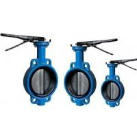 wafer butterfly valve EPDM NBR seat one stem with pin
